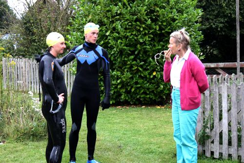 Meeting the locals - Swimming the Thames