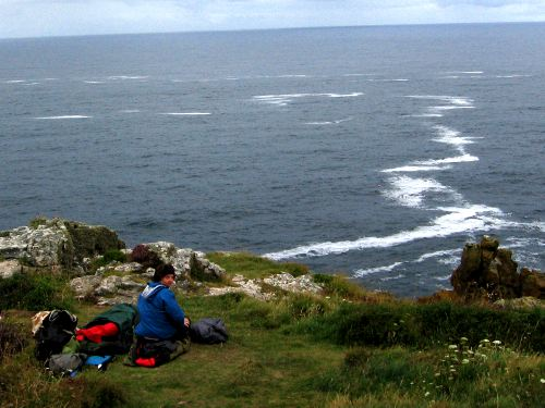 Cliff-top bivouac on the Cornish Coastal Path