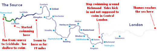 Progress - River Thames Swimming Map