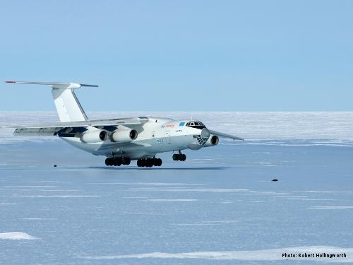 Hercules take-off, Antarctica