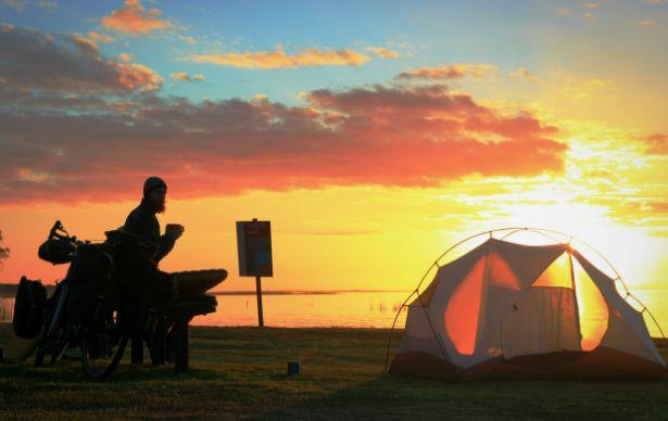 Sunset over Lake Albert
