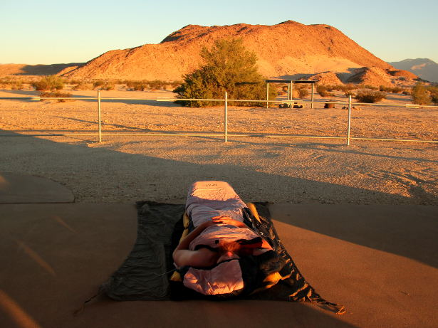 Bivvying in the desert
