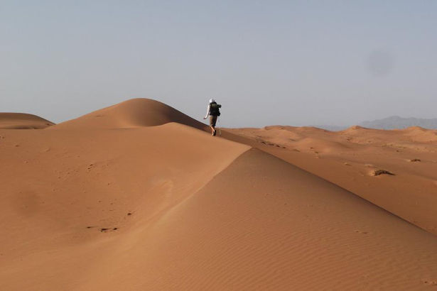 Crossing the Wahiba Sands Desert