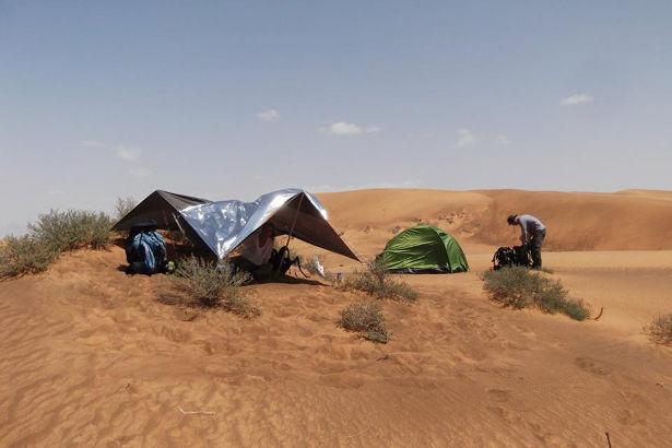 Crossing the Wahiba Sands Desert