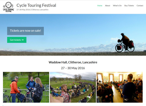 Discounted 'Early Bird' tickets for the Cycle Touring Festival now on sale