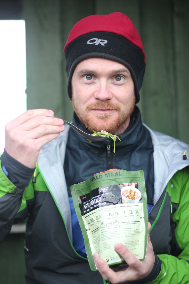Eating rations in Iceland