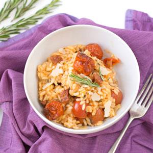 Holly Cooks - Chorizo, cherry tomato and rosemary risotto