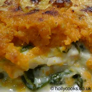 Holly Cooks - Caribbean Sweet Potato and Coconut Fish Pie