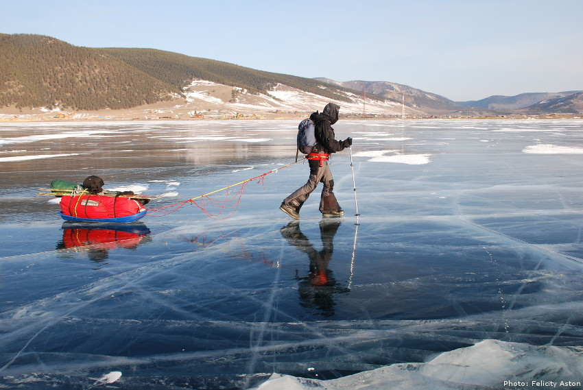 Felicity Aston on Lake Baikal