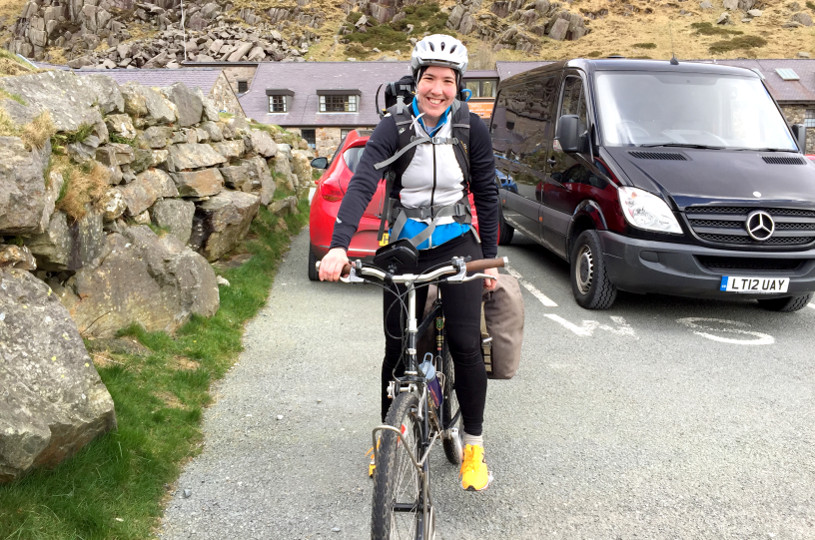 Heather Jones - Cycling the Welsh Three Peaks