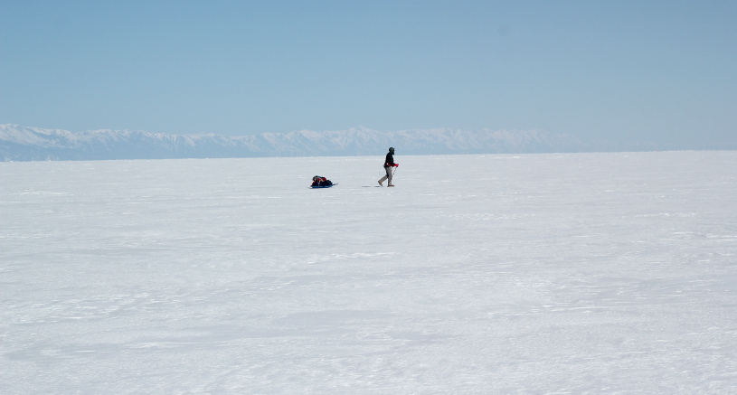 Crossing Lake Baikal in Winter