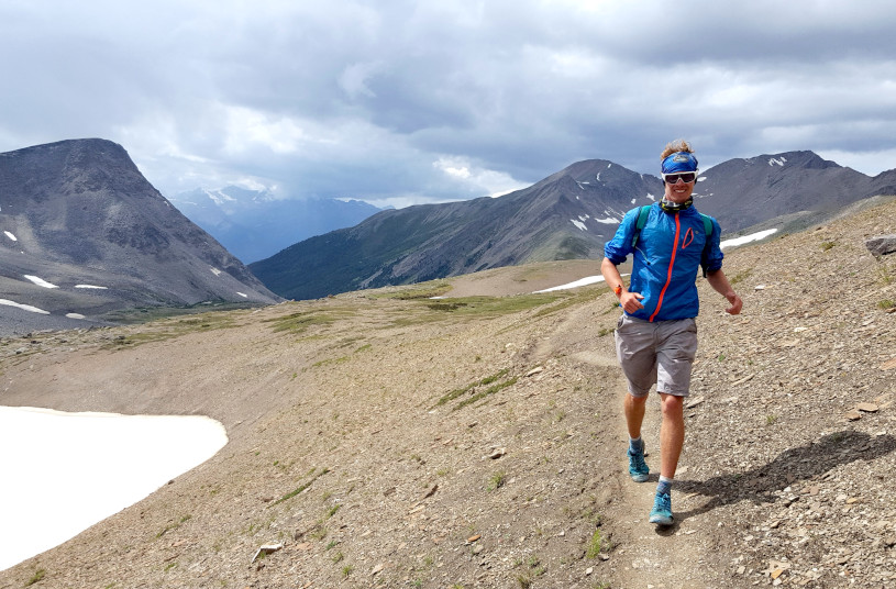 A Homemade 'IronMan' in the Candian Rockies