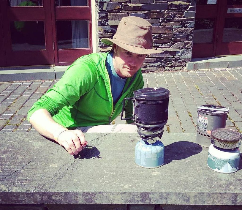 Tim Moss testing stoves
