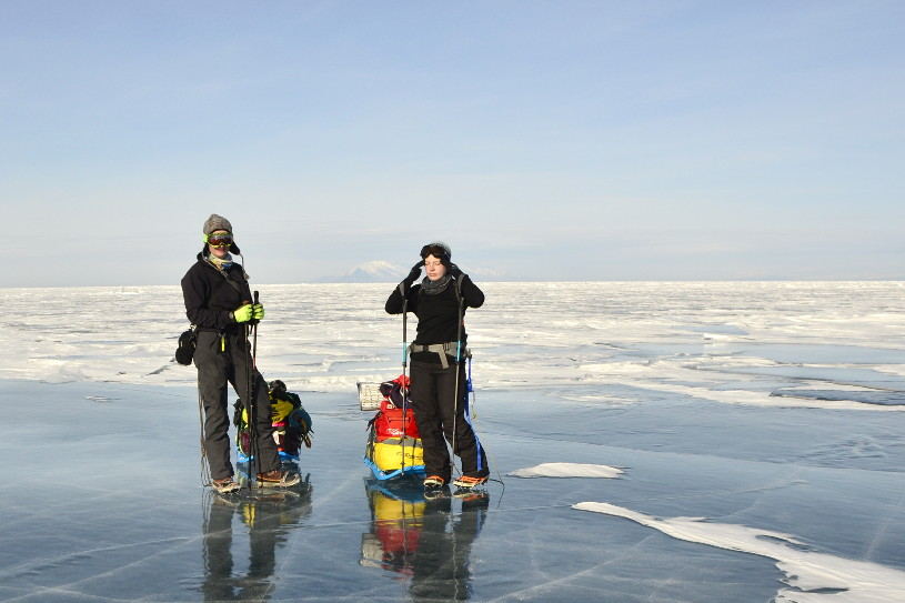 Crossing Frozen Lake Baikal (with someone you met on Facebook)