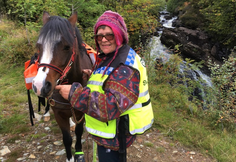 Sue Manning-Tombrek - Scotland with a pack pony