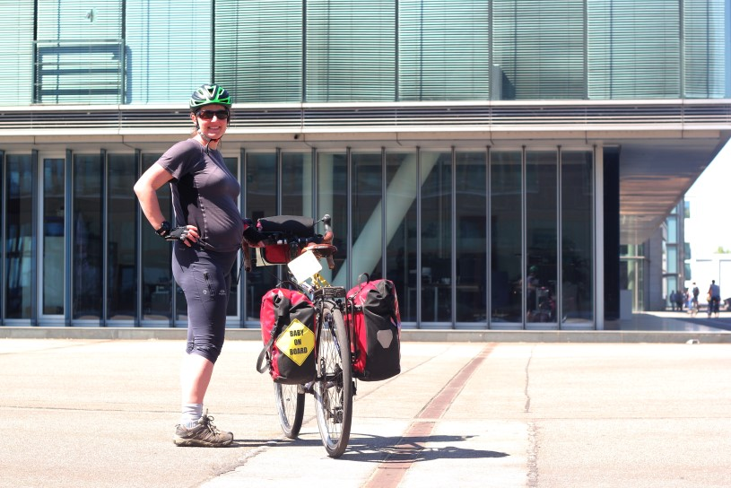 Cycling Denmark while pregnant